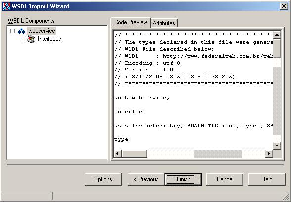 Exemplo em Delphi usando componente SOAP